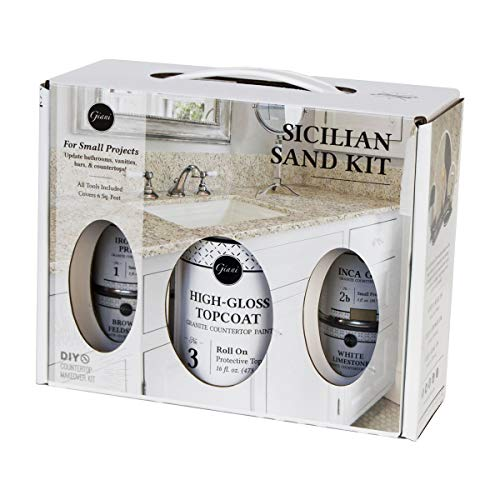 Giani Granite Small Project Paint Kit Sicilian Sand (Best Paint For Formica Cabinets)