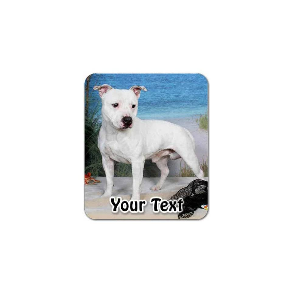 Staffordshire Bull Terrier Personalized Mouse Pad