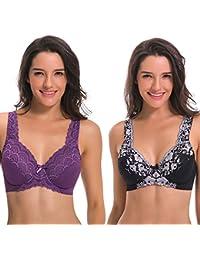 Women's Minimizer Underwire Full Figure Unlined Bra With...