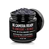 Be Camera Ready - Activated Charcoal Teeth Whitening Powder - DIY Professional Strength All Natural Whitener - Healthy Brushing to Brush Away the Yellow - No More Gels, Lights, Pens, Trays or Kits