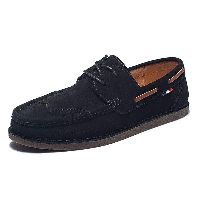 FHTD Zapatos De Hombre Gamuza Primavera Otoño Comfort Mocasines Y Slip-ONS Para Zapatos: Amazon.es: Ropa y accesorios
