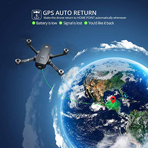 Holy Stone HS720E 4K EIS Drone with UHD Camera for Adults, Easy GPS Quadcopter for Beginner with 46mins Flight Time, Brushless Motor, 5GHz FPV Transmission with Spare Parts Accessories
