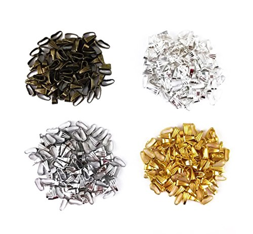 Pendant Connector (yueton 400pcs Mixed Color Snap Bail Hook Chain Connector Pendant Charms Clasps)