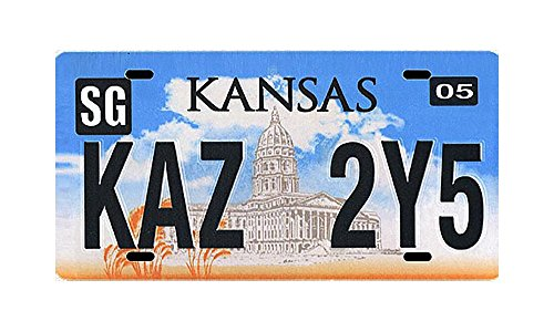 Collectable License Plate (Supernatural Metallicar Collectible Kansas License Plate Replica)
