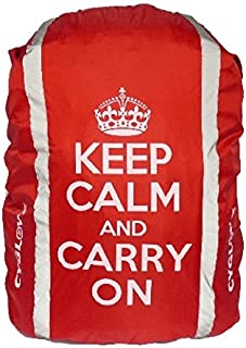 CYGLOVE Hi-Viz Reflective Hump Backpack Cover Cycling Water Resistant Yellow-Red (Red - Keep Calm and Carry On)