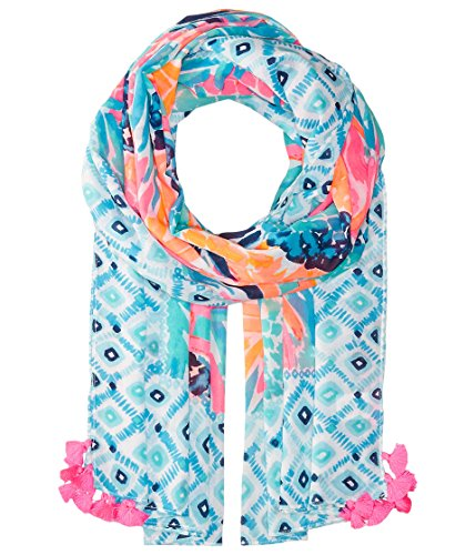 Lilly Pulitzer Women's Seaspray Wrap Multi Goombay Smashed Engineered (Lilly Pulitzer Tie)