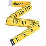eBoot 120-Inch Soft Tape Measure for Sewing Tailor Cloth Ruler, Yellow