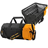 ToughBuilt - 26'' Massive Mouth Tool Bag | 62 Pockets & Loops, Extreme Large Capacity Tote, Heavy-duty Steel Reinforced Handles, Zipper Lock Wide Mouth Tool Storage / Organizer Box, (TB-60-26)