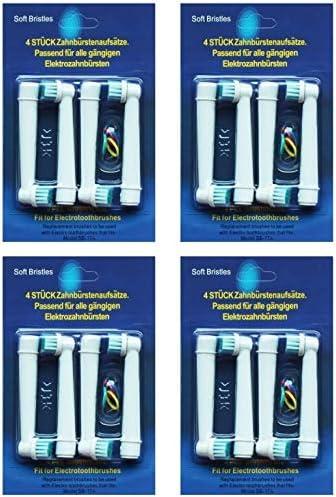 16 x Kompatiblen Aufsteckbürsten, Ersatzbürsten,(4 x 4PK) Ersatz Zahnbürsten für Braun Oral B EB17-4, , kompatibel mit Oral-B Vitality Precision Clean, weiß Clean, Sensitive Clean, Oral-B Professional Care 5000, 6000, 7000, 8000, Oral-B Triumph Professional Care 9000 Serie, Oral-B Advanced Power 400, 900, Oral-B Dual Clean TOP WARE TOP Qualität