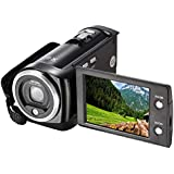GordVE-Powerlead 720P 16MP Digital Video Camcorder Camera DV DVR 2.7inch TFT LCD 16x ZOOM Portable Digital Video Recorder C6-BLACK (black)