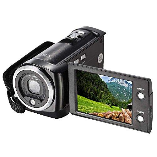 GordVE-Powerlead 720P 16MP Digital Video Camcorder Camera DV DVR 2.7inch TFT LCD 16x ZOOM Portable Digital Video Recorder C6-BLACK (black)