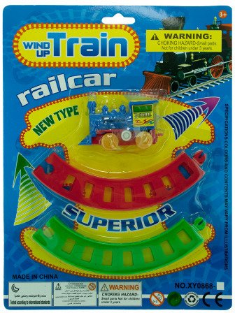 Bulk Buys Wind Up Toy Train With Track Set, Pack Of 24 from Kole Imports