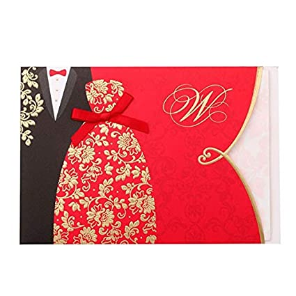 Amazon Com Occus 25pcs Red Bride And Groom Wedding