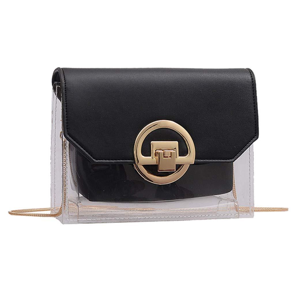 Arrowsy Women Bag New Casual Small Square Bag Wild Shoulder Messenger Bag Student Bag (Black)