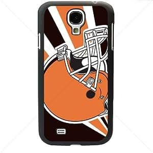 NFL American football Cleveland Browns Fans Samsung Galaxy S4 SIV I9500 TPU Soft Black or White case (Black)Kimberly Kurzendoerfer