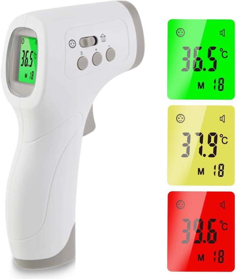 Term/ómetro digital sin contacto con infrarrojos pantalla LED lectura instant/ánea term/ómetro inteligente