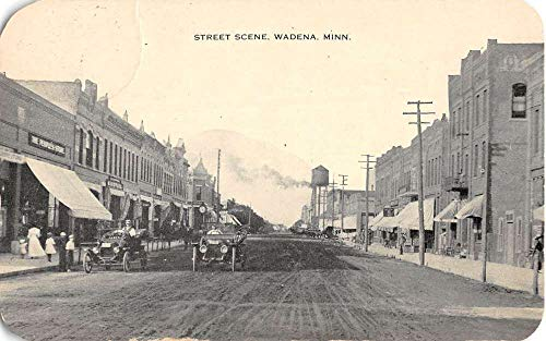 Wadena Minnesota Street Scene Historic Bldgs Antique Postcard K104717