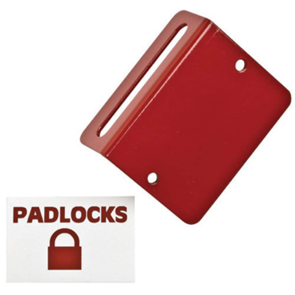 Brady Red Plastic Coated Various Materials Kit Prinzing 14 Gauge Padlock Station