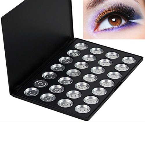 RNTOP 10/28 Piece Pans Empty Eye Shadow Eyeshadow Firm Palette Case Makeup Tool (A)