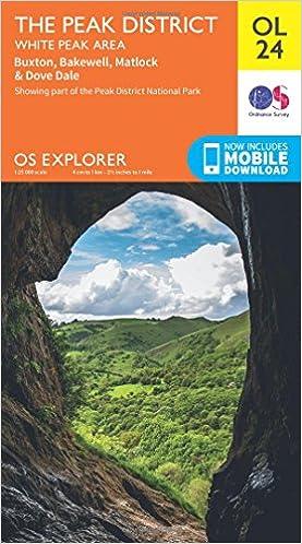 OS Explorer Map Bakewell Buxton The Peak District Matlock /& Dove Dale White Peak Area