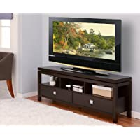 ioHOMES Sonoma Entertainment Center with 2 Drawer, 60-Inch, Cappuccino
