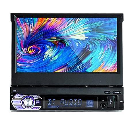 PolarLander 1 DIN 7 pulgadas de pantalla táctil LCD de la radio de coche de apoyo al jugador Bluetooth manos libres para 1080P Película cámara de visión ...
