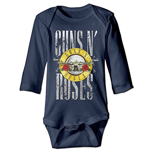 [DELPT Guns N' Roses Poster Cute Newborn Baby Romper Jumpsuit 24 Months Navy] (Womens Axl Rose Costume)