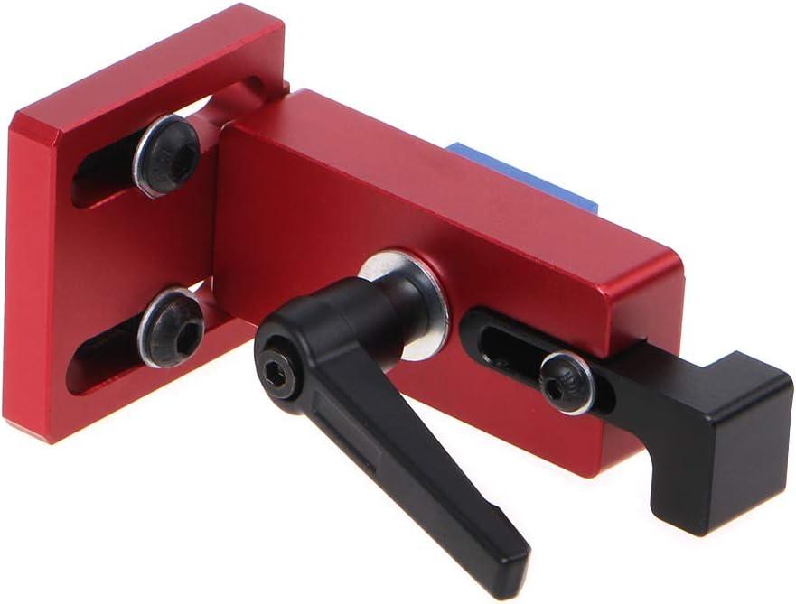 Rtengtunn Aleaci/ón de Aluminio 30//45 Soportes deslizantes T-Track Ranura Conector Milter Track Stop para carpinter/ía Herramientas manuales Accesorios 45MM