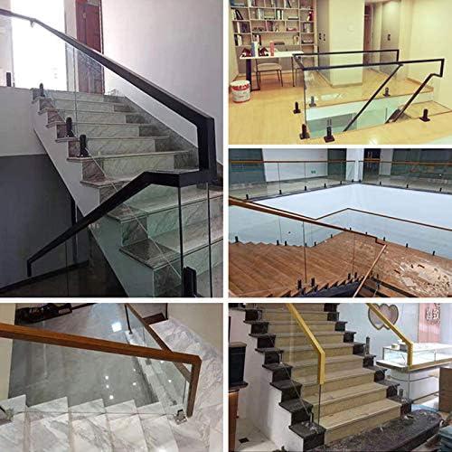 Cutito Glasklemmen Glashalterung Gel/änder Klemmen Treppen Pool Balustrade Zapfen Balkon Bodenstehend