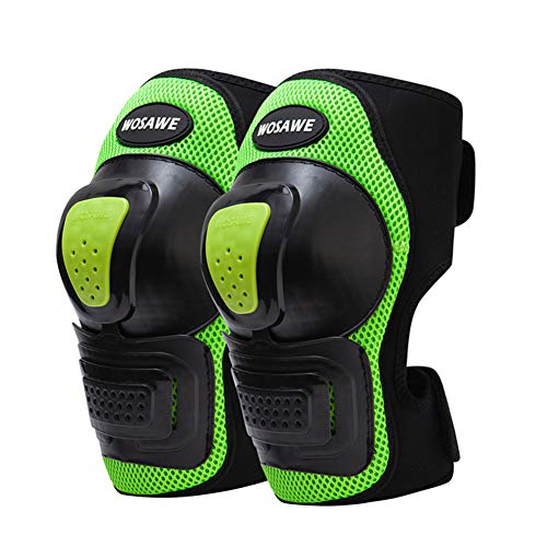 (Skateboarding Knee Pads Adult, Adjustable Knee Pads Safety Guard Protective Gear for Motorcycle Mountain Biking Cycling Bicycle Inline Roller)
