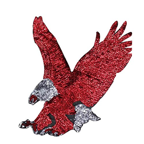 jingyuu Sequins Eagles Iron-on/Sew-on Applique Patches Embroidered Clothing DIY Accessories for Craft Decor