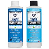 Crystal Clear- Art Resin Epoxy - The Artist's Resin for Coating, Casting, Resin Art, Geodes, River Tables, Resin Jewelry- Non-Toxic -16 Oz Kit