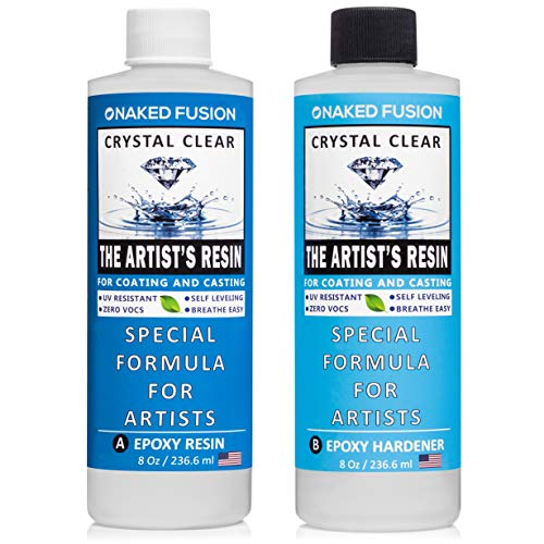 Crystal Clear- Art Resin Epoxy - The Artist's Resin for Coating, Casting, Resin Art, Geodes, River Tables, Resin Jewelry- Non-Toxic -16 Oz Kit ()