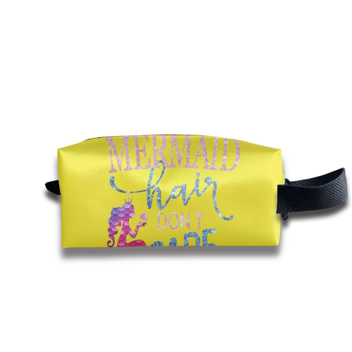 Mermaid Hair Don't Care Makeup Bag Cosmetic Toiletry Travel Bag Storage Bags For Women Men