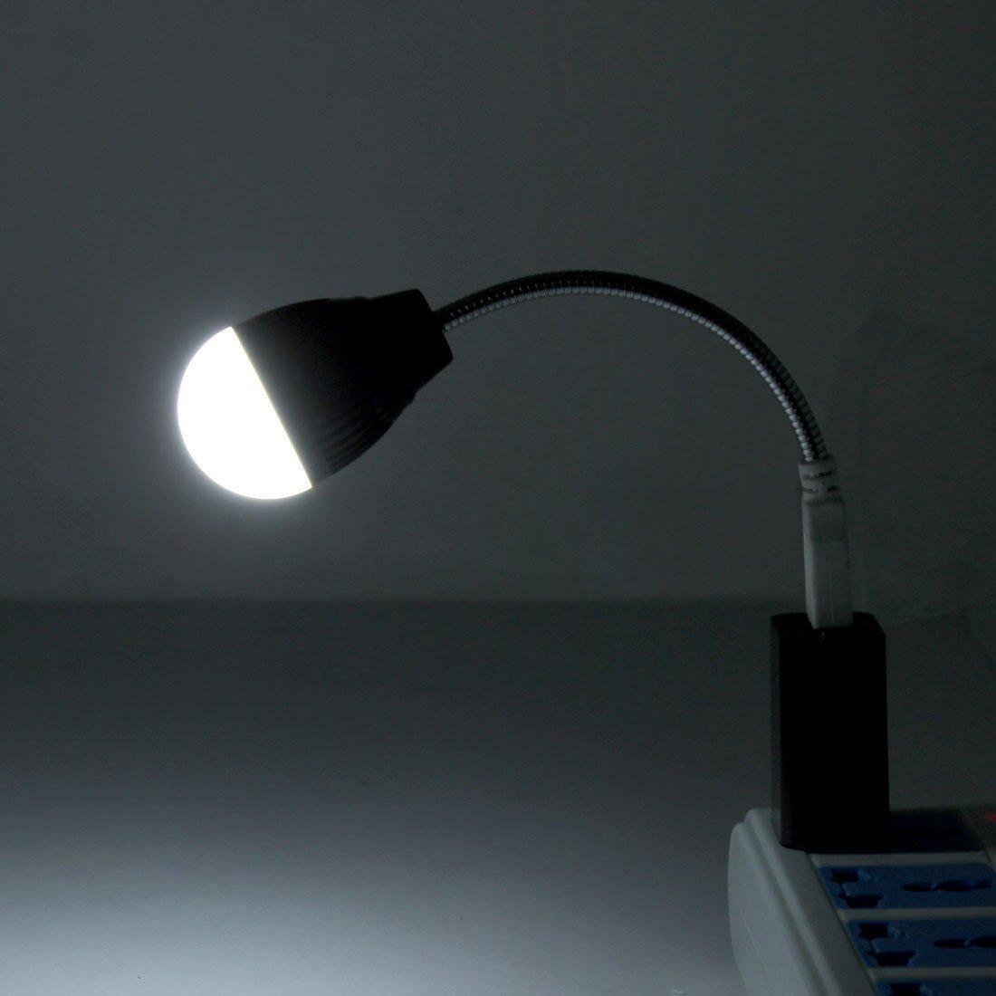 Amazon.com: eDealMax DC 5V 1W Mini USB Portable Flexible de LED de luz de la lámpara Negro Para PC de escritorio del ordenador: Electronics