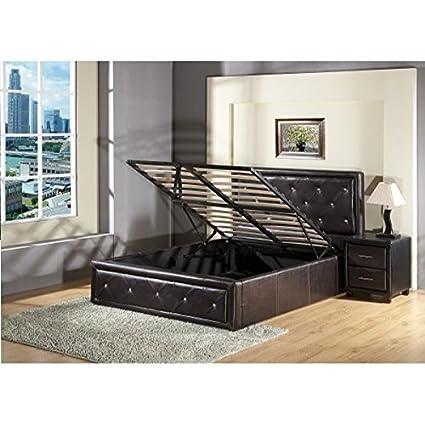 7Star - Cama tipo otomana con canapé para almacenamiento, elevación ...