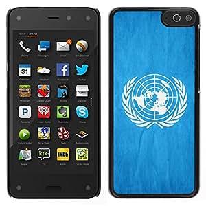 EJOY---Cubierta de la caja de protección para la piel dura ** Amazon Fire Phone ** --Nacional bandera de la nación País de las Naciones Unidas