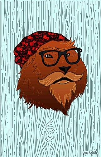 Geek Details Hipster Lion - Brofasa Art 11 X 17 Art Print - Wayfairers