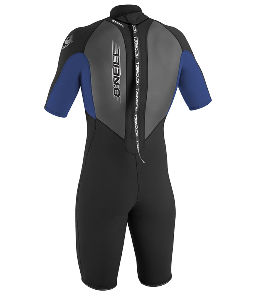 O'Neill Youth Reactor 2mm Back Zip Spring Wetsuit, Black/Pacific/Black, 4 by O'Neill Wetsuits (Image #2)