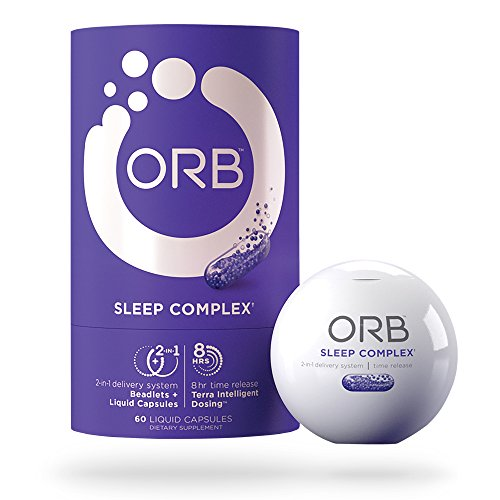 ORB Sleep Aid Supplement – Helps Natural Sleeping & Insomnia Relief with Essential Oils + Herbal Formula Melatonin, Valerian, Chamomile | Calms & Aids Better Sleep | TimeRelease B12 Vitamins, 60 count