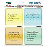 Graphics and More Eleanor Roosevelt Inspirational Quotes Mag-Neato's Automotive Car Refrigerator Locker Vinyl Magnet Set