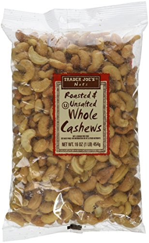Trader Joes Roasted Unsalted Cashews