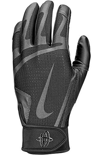 40a68b6f47308 Nike Men s Huarache Edge Batting Gloves Black Size X-Large