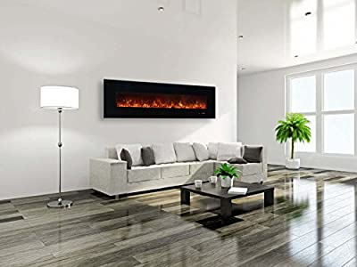 Modern Flames AL Series Wall Mount Electric Fireplace, 95-Inch