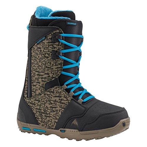 Burton Rampant Snowboard Boots - 7.0/Black-Camo-Blue