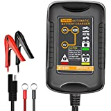 TeNizo Smart Trickle Battery Charger Maintainer, 6V&12V 1.5Amp Fully Automatic Charging for Car, Motorcycle, Boat, Lawn Mower, Snowmobile, Vehicle, SUV, ATV - SLA AGM GEL CELL Lead Acid Batteries