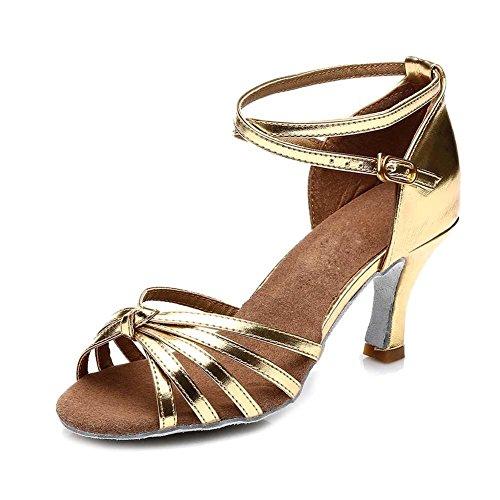 Baile Latin 6 Ouro Sapatos 5 8 Cm Salsa Mulheres Estilo Eu Salão Quente Alta De 39 Us Das De Salto Dança 15 213 Yff Uk SRYUXwqc