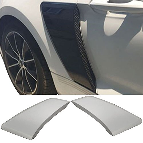 Fender Fits 2015-2018 Ford Mustang | GT Style Rear Side Fender Door Scoops Hood Unpainted 2PC PPby IKON MOTORSPORTS |  2016 2017 ()