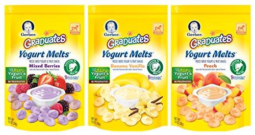 Gerber Graduates Yogurt Melts Snack Variety Pack, 1 Ounce Deals