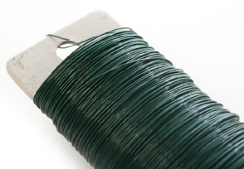24 Gauge Green Paddle Crafting Wire for Floral Arranging, Crafting, Creating- 6 Spools of 59 Yards for 354 Total Yards